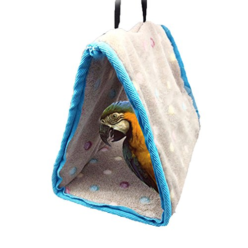 Winter Warm Bird Nest House Hut for Parrot Macaw African Greys Amazon Parakeet Cockatiels Cockatoo Conure Lovebird Cage Toy
