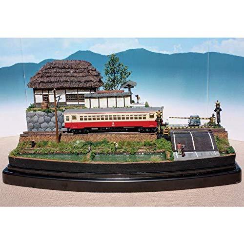 ジオコレ Nゲージ 農家と踏切 ジオラマ 完成品 鉄道 模型 B07PPBCSD6