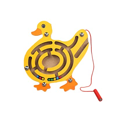 zhenleisier Mini Fish Duck Animal Shape Magnetic Roll-on Labyrinth Maze Children Puzzle Educational Toy GiftDuck: Home & Kitchen