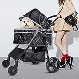ペットバギー ペットカート ショッピングカート 犬用 猫用カート 犬 ケージ ペットキャリー 折り畳み 4輪バギー 小型カート 星柄