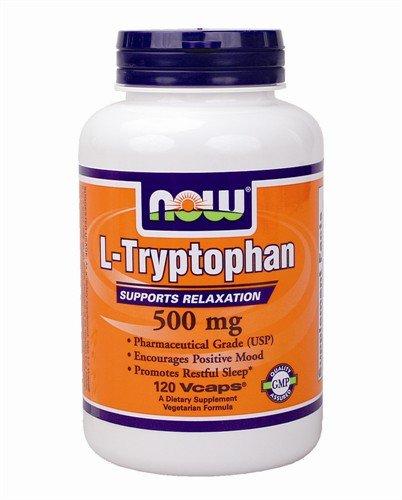 NOW Foods - L-tryptophane 500 mg. - 120 Vegetarian Capsules
