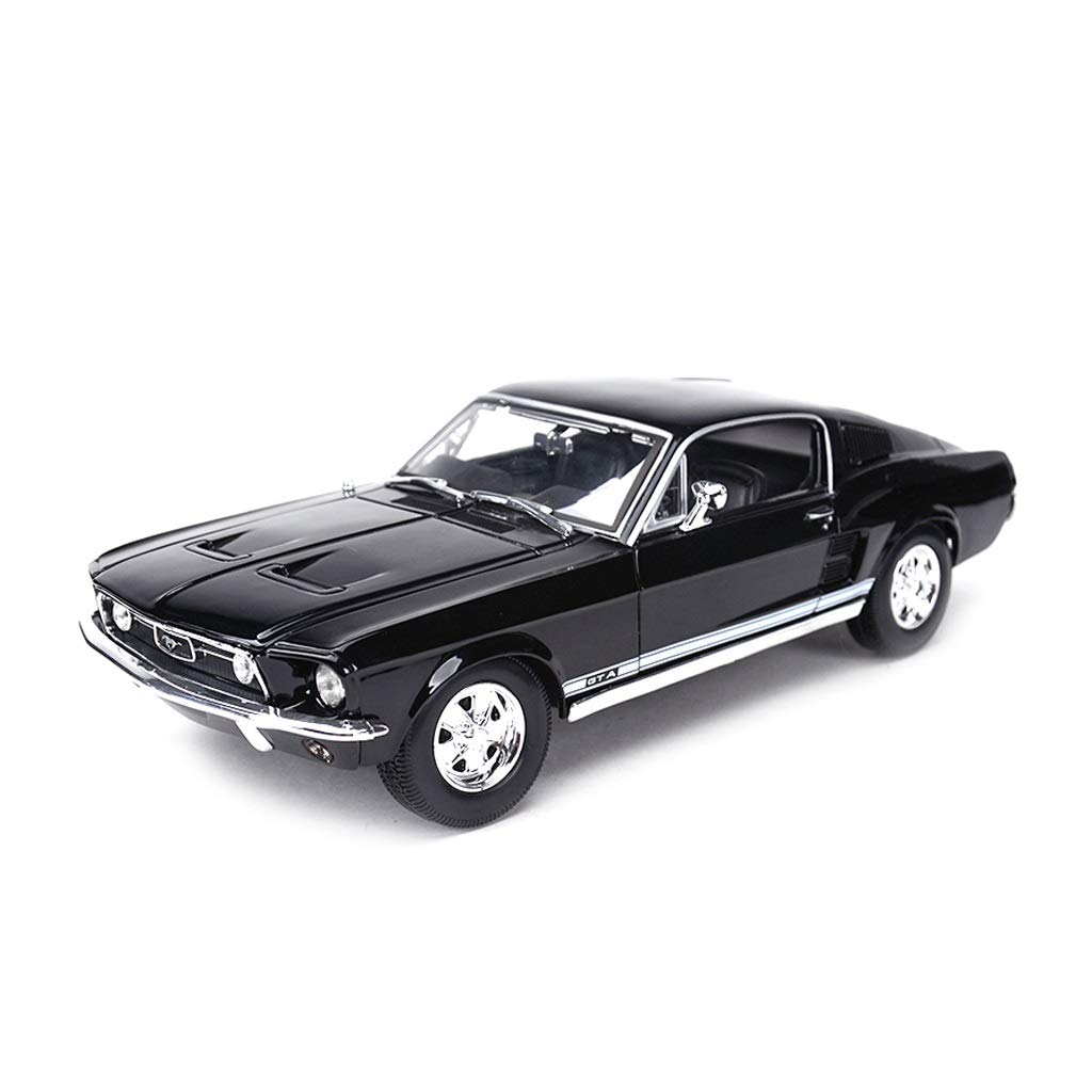 LIUFS-Alloy Car Alloy Car Model Simulation Design Home Collection Ornaments 1967 Mustang GT Children's Toys ( Color : Black )