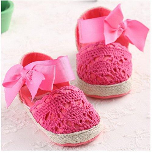Summer Infant Girls infantil Princess primera Walkers Prewalker zapatos arco zapatos sandalias morado morado Talla:0-6 meses Rosa y rojo