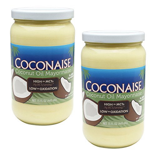 Coconaise 15oz Coconut Oil Mayonnaise (2 Jars)