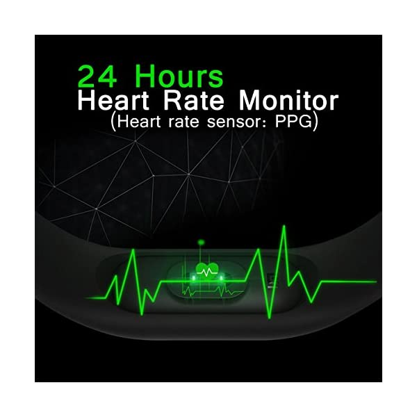 51fq3VblFmL RunSale Sports Smart Fitness Band 2 Bracelet/Fitband with Heart Rate Monitor Sensor M2 OLED Bluetooth Wristband…