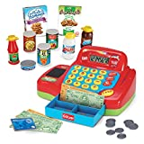 you cash register - Kidzlane Electronic Toy Cash Register for Kids - 20+ Realistic Pieces Interactive Pretend Playset