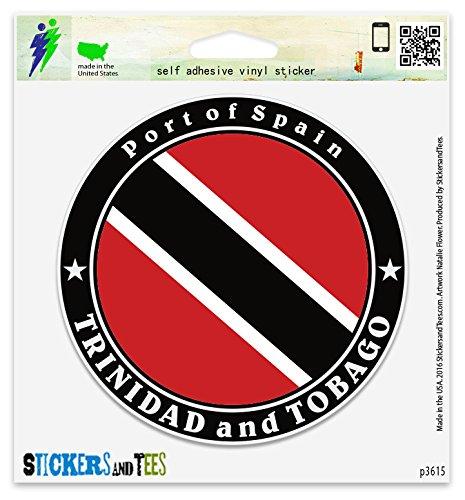 Trinidad and Tobago Port of Spain Vinyl Car Bumper Window Sticker 2