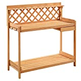 Potting Bench Outdoor Garden Work Bench Station Planting Solid Wood Construction Ship from USA
