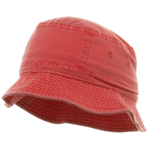 Youth Pigment Dyed Bucket Hat-Red OSFM (Kids Red Bucket Hat)