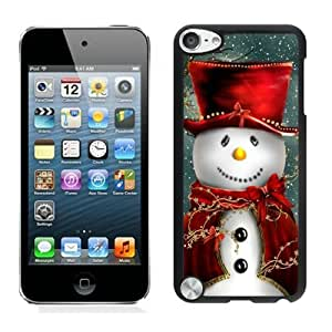 Ipod touch 5 cases,Christmas snowman iPod Touch 5 Case Black cover