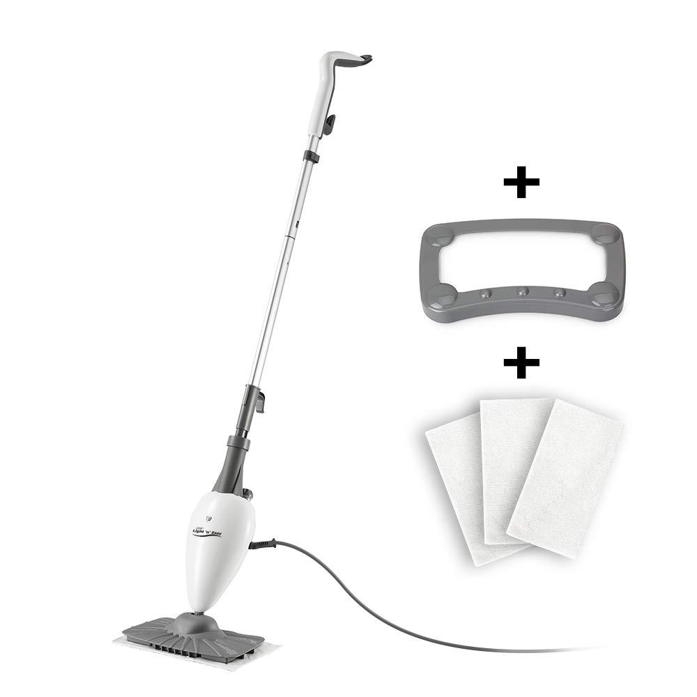 LIGHT 'N' EASY Steam Mop, Floor Steamers for Hardwood and Tile,Lightweight Steam Mops for Laminate Floor,Carpet Steamer,Wood Floor Mop Steam Cleaners,S3101