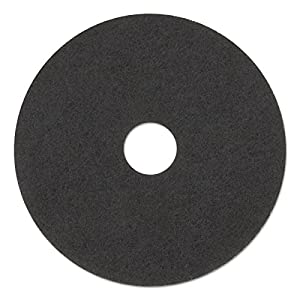 "3M 08379 Low-Speed Stripper Floor Pad 7200, 17"" Diameter, Black (Case of 5)"