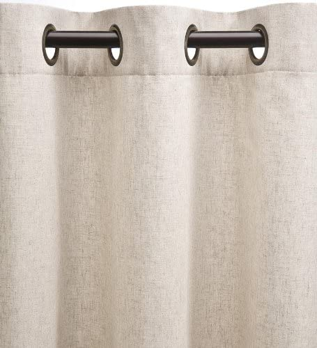 Plow Hearth Homespun Grommet-Top Insulated Curtain, 96 L – Linen