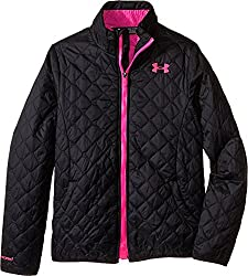 Under Armour Girls' ColdGear Infrared Hillcrest Hooded Shell, Pacific (478), Youth Medium
