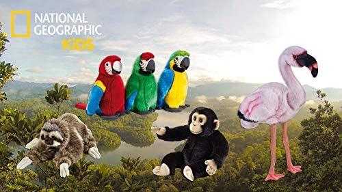 National Geographic 9770713 Schimpanse Plüschtier Schwarz Spielzeug
