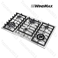 WindMax 34 Titanium 6 Burners Built-In Stoves NG/LPG Cooktops Cooker~US Stored#68023