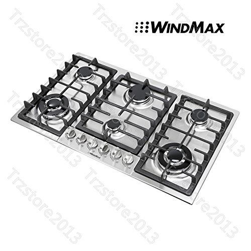 """Windmax 34"""" Titanium 6 Burners Built-In Stoves NG/LPG Coo..."""
