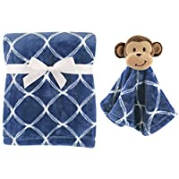 Hudson Baby Unisex Baby Plush Blanket with Security Blanket