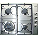 Verona Verona VECTG424SS Gas 4 Burner Cooktop Stainless Steel,...