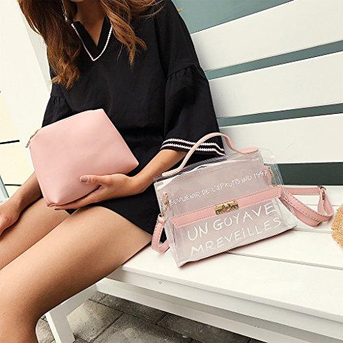 Transparente Bags Para Rosado Summer Groomy Pvc De Bolso Tote Mujer Hombro green Handbag Crossbody twwq1gH6