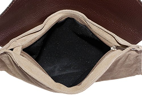 Bag Bag Leather Wrist Sacchi Italian Made Protective Design Includes Primo Beige Hand Storage Envelope Branded a Crossbody or Clutch Shoulder Suede tqOHWwnz
