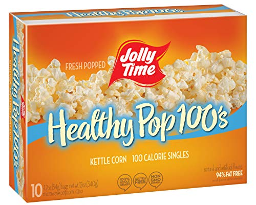JOLLY TIME Healthy Pop Kettle Corn Mini Bags | 100 Calorie Sweet & Salty Microwave Popcorn Single Serving Bags for Portion Control (10-Count Box, Pack of 3)