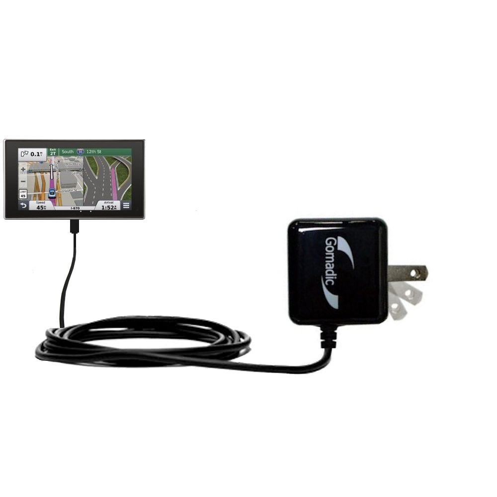 Gomadic High Output Home Wall AC Charger designed for the Garmin nuvi 3597 LMTHD with Power Sleep technology - Intelligently designed with Gomadic TipExchange by Gomadic