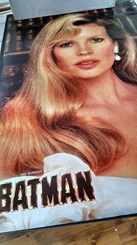 1989 Batman Vicky Vale Kim Basinger vintage new NOS wall poster -