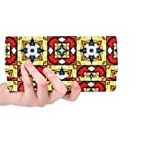 Unique Custom Church Pattern Church Texture Pattern Religion Women Trifold Wallet Long Purse Credit Card Holder Case Handbag