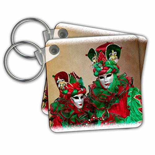 Carnival Of Venice Italy Costumes (Danita Delimont - Venice Carnival - Elaborate masked costume for Carnival, Venice, Italy 04 - Key Chains - set of 2 Key Chains (kc_249192_1))