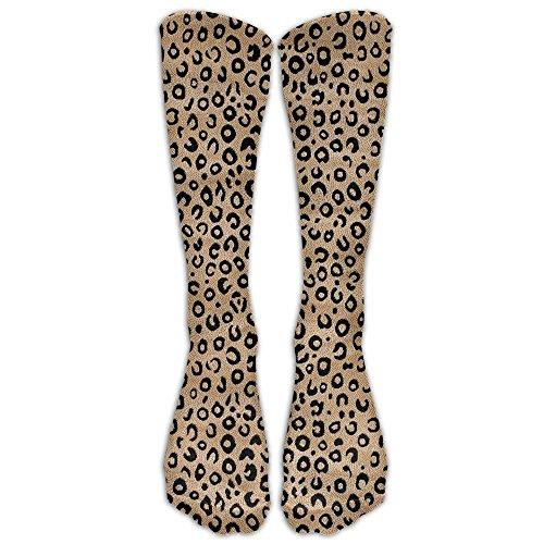 Kakgop Black Ivory Animal Print Knee High Graduated Compression Socks for Women and Men - Best Medical Nursing Travel Flight Socks - Running Fitness