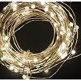 Catena LED stringa luminosa decorazione di natale a batteria to invisibile 50 microled e filo argento per albero di natale presepe addobbi natalizi e decorare la casa di AcquistoWeb
