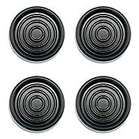 Aísle las almohadillas antivibraciones de la máquina de la lavadora y secadora Sorbothane (negro)