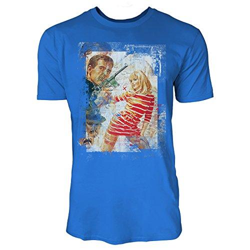 SINUS ART® Boom Boom Herren T-Shirts stilvolles royal blaues Fun Shirt mit tollen Aufdruck