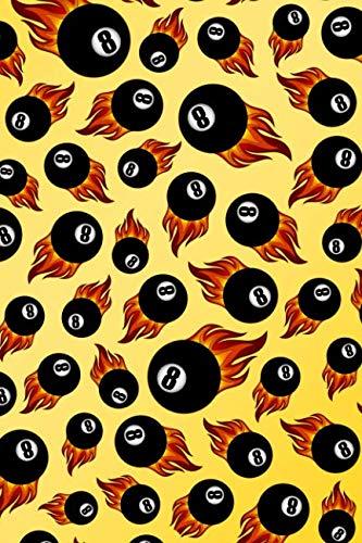 (Journal: Yellow flaming eight balls notebook)