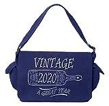 Tenacitee Aged Like a Fine Wine 2020 Royal Blue Brushed Canvas Messenger Bag