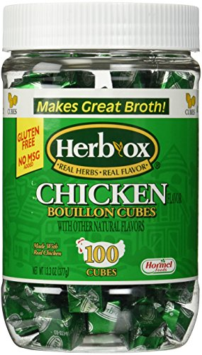 Herbox Hormel Chicken Bouillon 100 Cubes Real Herbs Gluten Free No MSG Broth