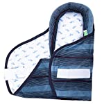 BAYBEE Soft Thick Warm Fleece Velcro Snuggle Pod Baby Wrap Swaddle for Boys and Girls, 0 to 24 Years(Blue)