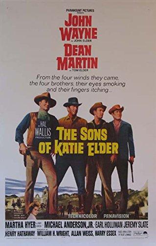The Sons Of Katie Elder John Wayne Western 1965 Vintage Movie Poster Linenbacked