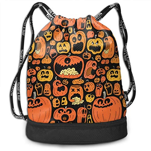 SexyLEGS Funny Halloween Calabazas Pumping Rope Bags Large Size Drawstring Bulk Backpacks Zipper Bundle Mouth Pull String Bags Unisex Travel Bag]()