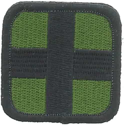 Medic Cross Patch Olive   Black 2