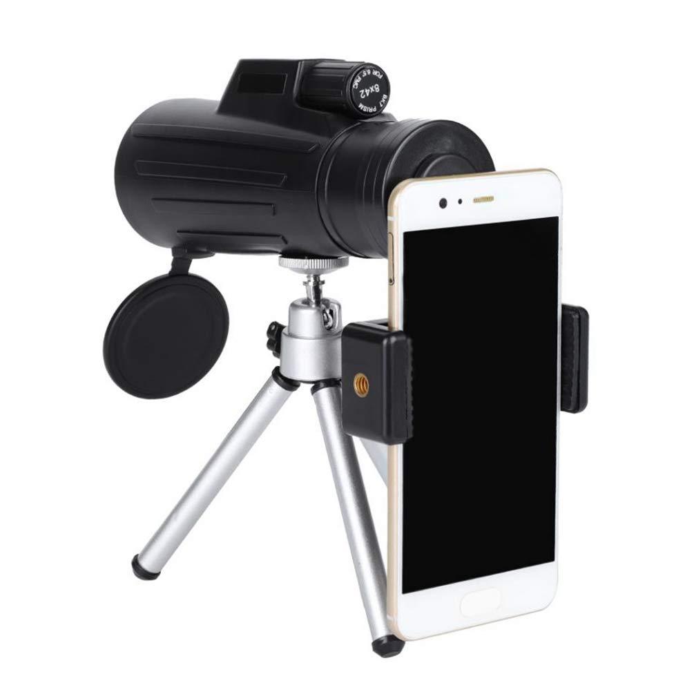 新品本物 8X42 HD 電話単眼望遠鏡 耐衝撃 ユニバーサル携帯電話 単眼鏡 単眼鏡 望遠鏡 耐衝撃 携帯電話クリップ三脚付き 電話単眼望遠鏡 B07H81R87J, rayon:f5fd3d27 --- a0267596.xsph.ru