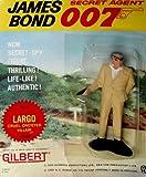 James Bond Vintage Gilbert Movie Figure # 8 Largo : Cruel One-eyed Villain on Original 1965 Era Card