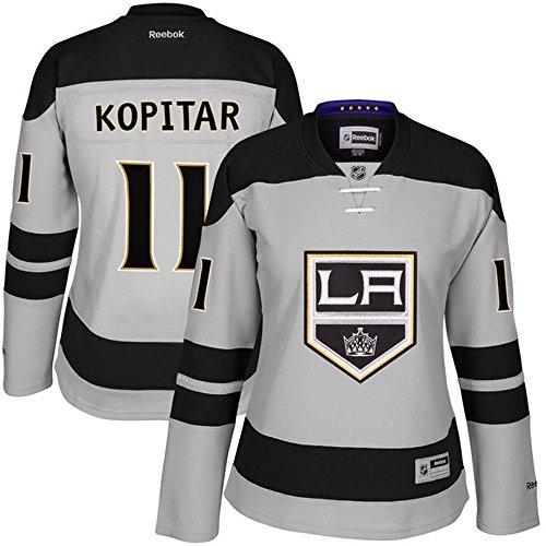 11 Anze Kopitar Los Angeles Kings Home Women's Premier Jersey Gray color Size S