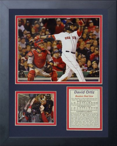 "Legends Never Die ""David Ortiz World Series MVP"" Framed Photo Collage, 11 x 14-Inch"