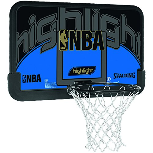 2 opinioni per Spalding, Canestro da basket Nba Highlight Backboard, Nero (schwarz/blau),