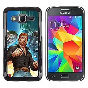TopCaseStore / la caja del caucho duro de la cubierta de protección de la piel - Tough Man Kung Fu Martial Arts Tank Ussr - Samsung Galaxy Core Prime SM-G360
