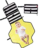 #6: Baby Diaper Changing Pad Clutch - Portable Diaper Changing Station for Baby Newborn Infant,Foldable Mat with Detachable Pad & Built-in Head Cushion - Comfortable Waterproof Wipeable