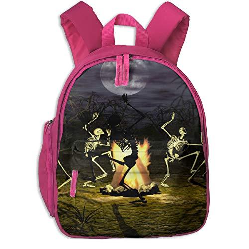 Image-50787070-halloween-skeleton-wallpaper-2880x1800 Children School Bag Book Backpack Outdoor Travel Pocket Double Zipper]()