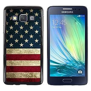 TopCaseStore / la caja del caucho duro de la cubierta de protección de la piel - Flag States United Red White Blue - Samsung Galaxy A3 SM-A300